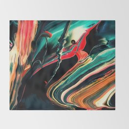 ABSTRACT COLORFUL PAINTING II-A Throw Blanket