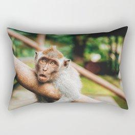 Cute Monkey (Color) Rectangular Pillow