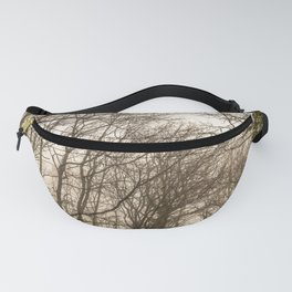 The mist in the forest Fanny Pack