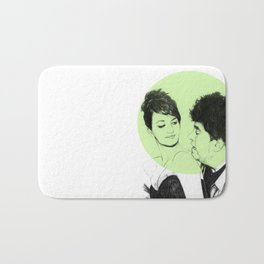 Pedro Almodovar and Penelope Cruz Bath Mat