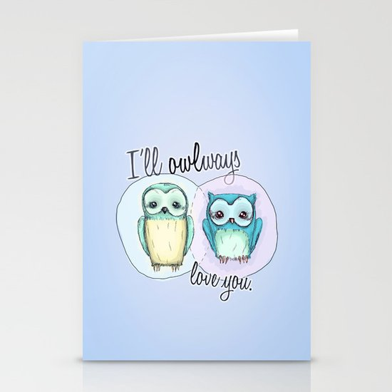 owls Stationery Cards