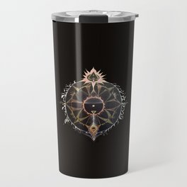 Saraswati Mandala Black Travel Mug