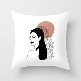 she was red Throw Pillow