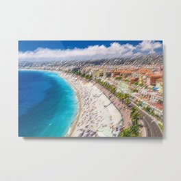 The French Riviera Landscape Painting by Jeanpaul Ferro Metal Print