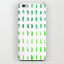 Dashed in Greenery iPhone Skin