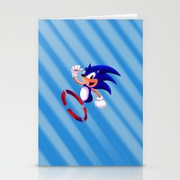 sonic Stationery Cards featuring Sonic by DROIDMONKEY