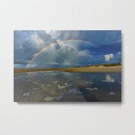Atlantic Beach NC Rainbow Metal Print