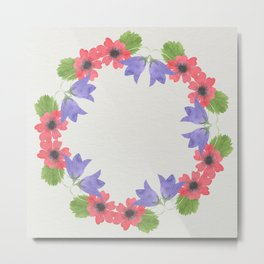 Bold Watercolor Floral II - Sophisticated large scale charming print on white Metal Print