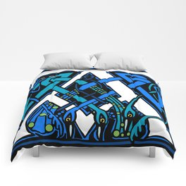 Celtic Peacocks letter A Comforters