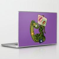 anaconda Laptop & iPad Skins featuring Anaconda Buns by Artistic Dyslexia