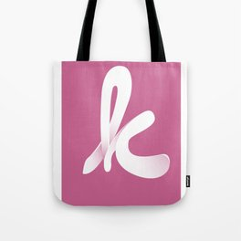Typographic K Tote Bag