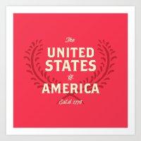 The United States of America Art Print