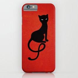 Red Gracious Evil Black Cat iPhone Case