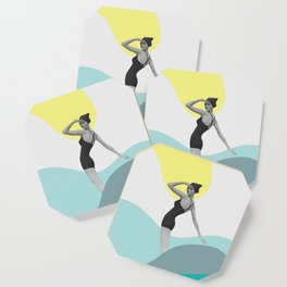 Swimmer Collage Coaster