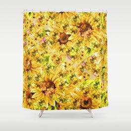 Sun Flower Mosaic Shower Curtain