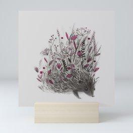 HEDGEHOG (grey) Mini Art Print