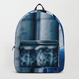 Man headset blue Backpack