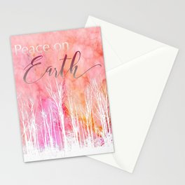 Peace on Earth Card in White Stationery Cards