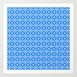 Carmella in Blue Art Print