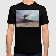 Mountain Train Black Mens Fitted Tee MEDIUM