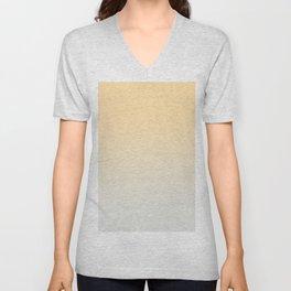 CREAM DREAM - Minimal Plain Soft Mood Color Blend Prints Unisex V-Neck