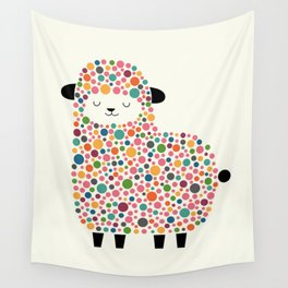 Bubble Sheep Wall Tapestry