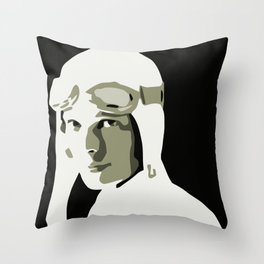 Silhouette vector Art: Amelia Throw Pillow