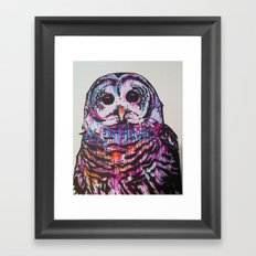 Something like an Owl Framed Art Print