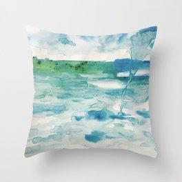 Miami Beach Watercolor #2 Throw Pillow