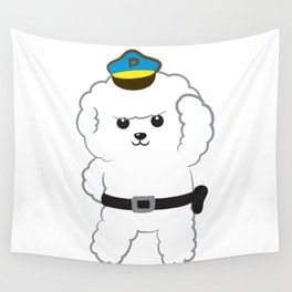 Animal police - Bichon Frisé Wall Tapestry