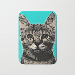 Cat. Pop art cat Bath Mat