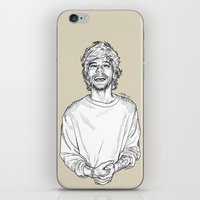 louis tomlinson iPhone & iPod Skins featuring Louis Tomlinson  by Cécile Pellerin