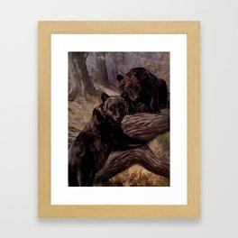 Vintage Brown Bear Painting (1909) Framed Art Print
