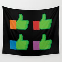 tmnt Wall Tapestries featuring I Like TMNT by Byway