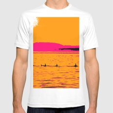 Orca Summer White MEDIUM Mens Fitted Tee