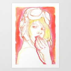 Aviator girl 002 Art Print