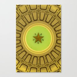 Texas Star in the Dome of State Capitol Canvas Print