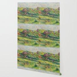 """Auguste Renoir """"Le châlet de Blanche Pierson à Pourville"""" Wallpaper"""