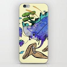 explore (blue) iPhone & iPod Skin