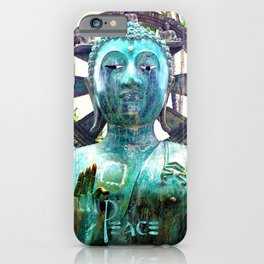 "Asian Buddha metal statue photo | ""Peace"" iPhone Case"