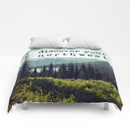 discover your northwest- mountains Comforters