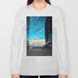 Seattle Summer Sunset Long Sleeve T-shirt