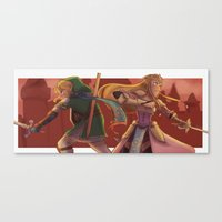 hyrule Canvas Prints featuring hyrule warriors by CRAZiE-CRiSSiE