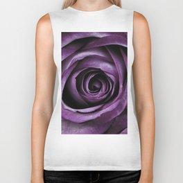 Purple Rose Decorative Flower Biker Tank