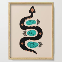 Southwestern Slither in Black Serving Tray