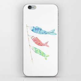 Watercolor Japan Carp Streamers / Koinobori iPhone Skin