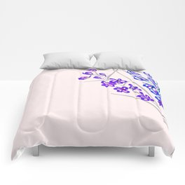 Delphinium on Light Pink Comforters