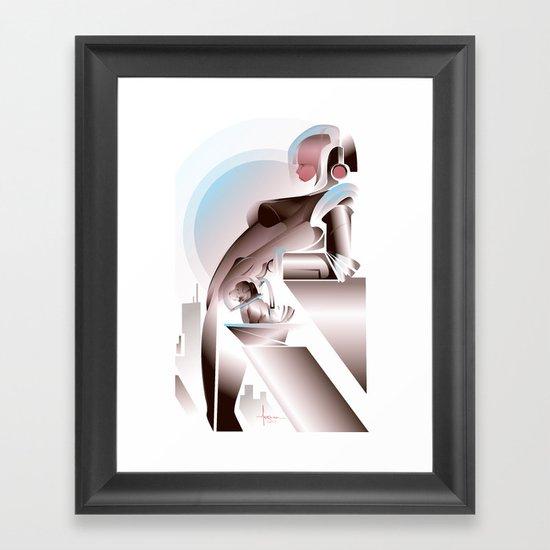 ANTICIPATION-White 2013 Framed Art Print