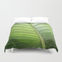 palm Duvet Covers featuring Palm by ALLY COXON