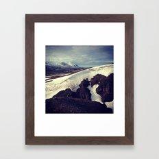 snow curves Framed Art Print